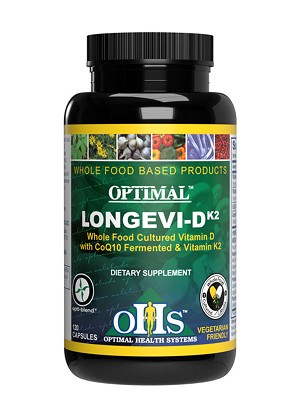 Optimal Longevi-D K2 w/CoQ10, 120 caps - Optimal Health Systems