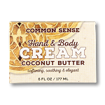 Coconut Butter Hand & Body Cream, 6oz - Common Sense Soap