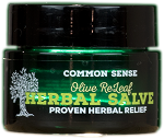 Olive ReLeaf Herbal Skin Salve, .5oz - Common Sense Soap