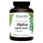 Alpha Lipoic Acid with Vit C, 300 mg, 120 caps - Emerald Labs