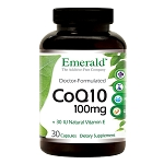 Coenzyme Q10 200 mg, 30 caps - Emerald Labs
