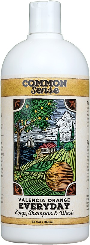 Everyday Valencia Orange Soap, Shampoo & Wash, 32oz - Common Sense Soap