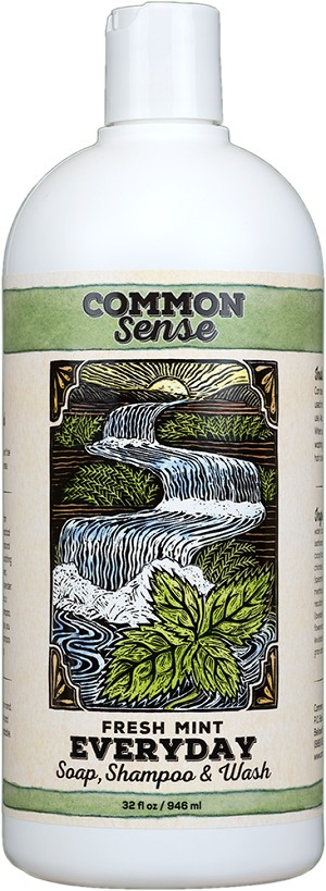 Everyday Fresh Mint Soap, Shampoo & Wash, 32oz - Common Sense Soap