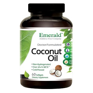 Coconut Oil Softgels - 4000mg, 240 caps - Emerald Labs