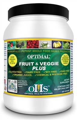 Fruit & Veggie Plus, 30 servings (single jar) - Optimal Health Systems